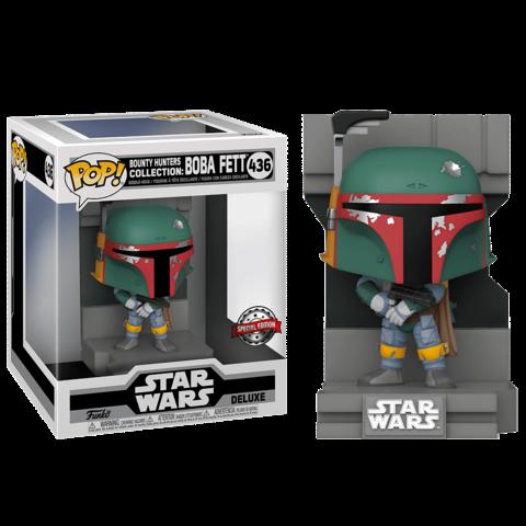 Фигурка Funko POP! Deluxe Bobble Star Wars SW Bounty Hunters Boba Fett (MT) (Exc) 55827