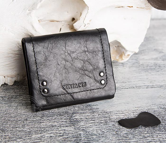 WL286-1 Мужской кожаный кошелек с монетницей фото 02