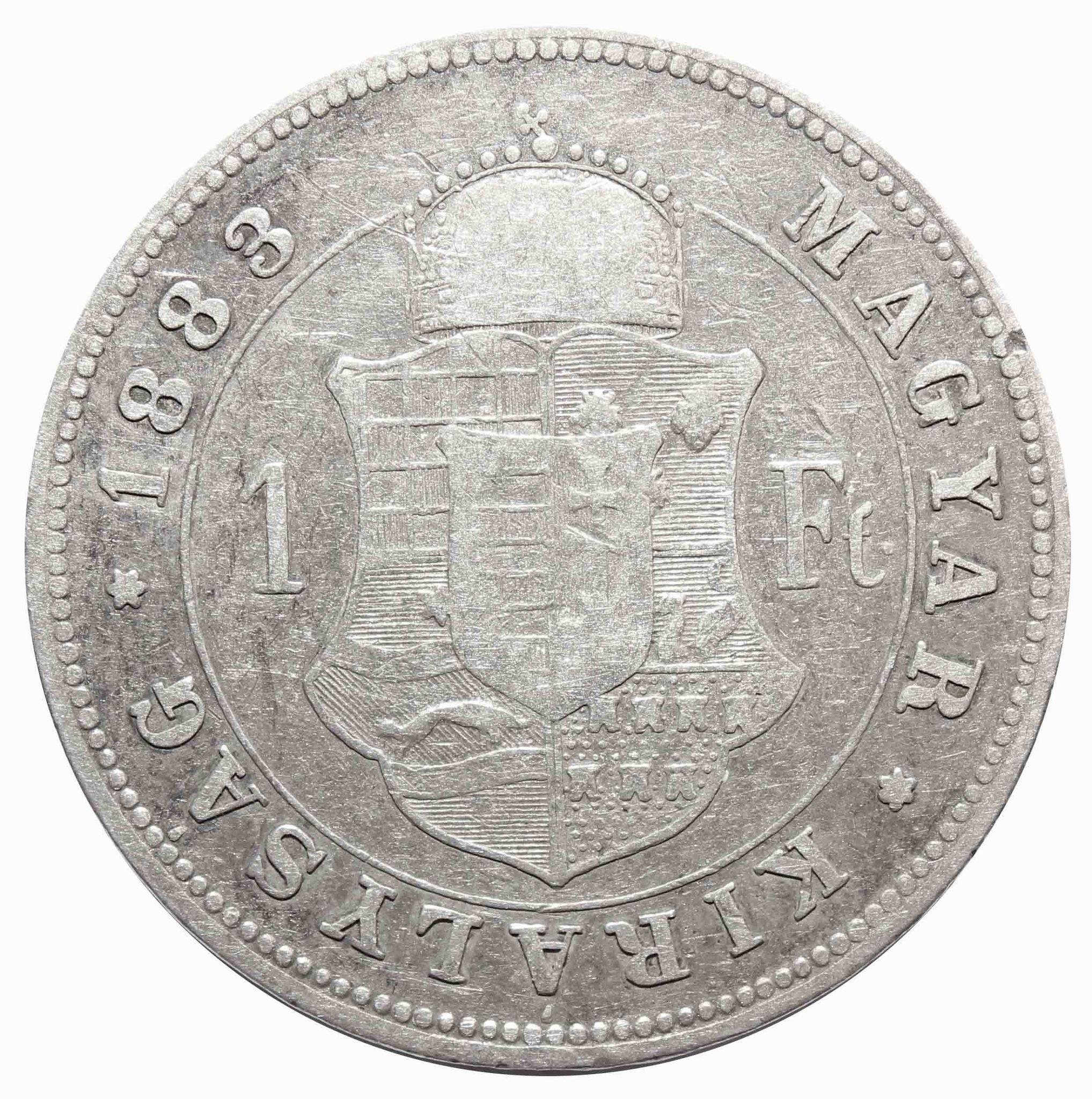 1 форинт 1883 год, Венгрия. VF
