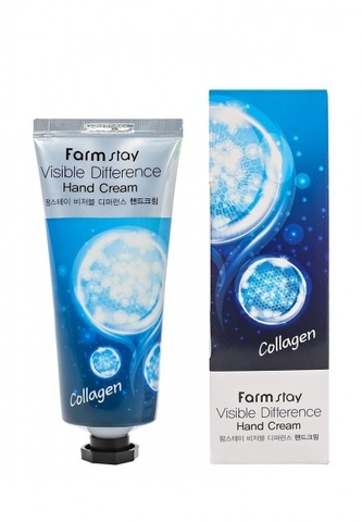 FarmStay Крем для рук с коллагеном Visible Difference Collagen Hand Cream, 100 мл