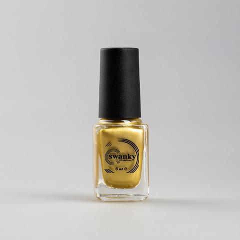 Лак для стемпинга Swanky Stamping M07, холодное золото, 6 мл.