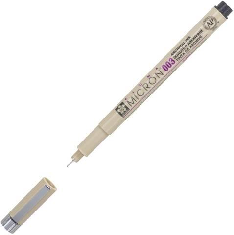 Ручка капиллярная Pigma Micron 0.15мм Черный