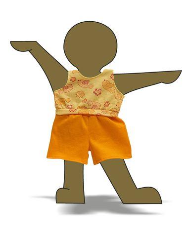 Летний костюмчик - Демонстрационный образец. Одежда для кукол, пупсов и мягких игрушек.