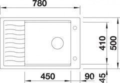 Мойка Blanco Elon XL 6 S Тёмная скала - схема