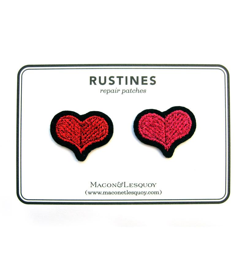 Набор патчей-заплаток Hearts Red & Rose от Macon&Lesquoy