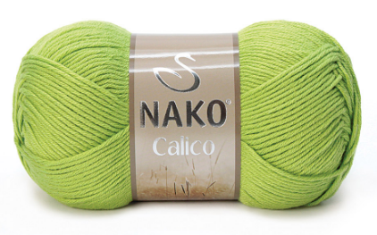 Пряжа Nako Calico зеленый 5309