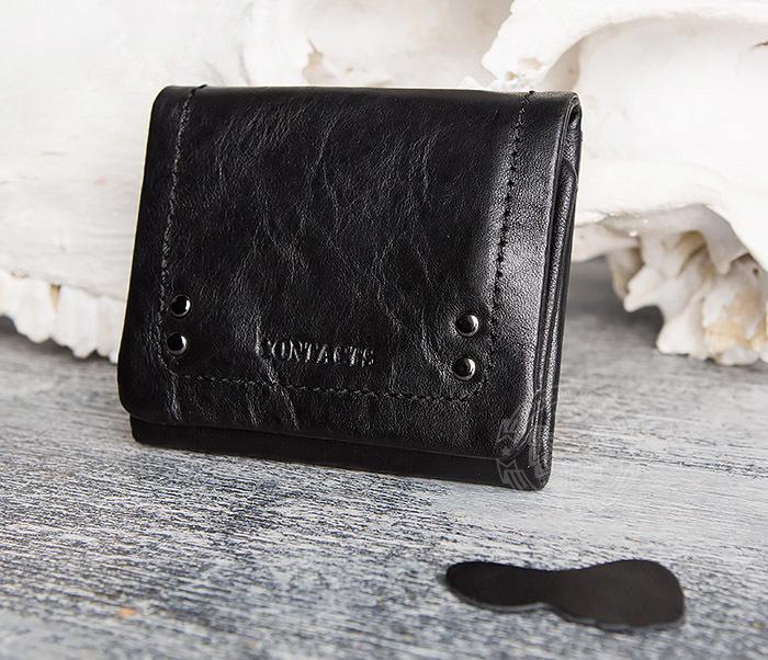 WL286-1 Мужской кожаный кошелек с монетницей фото 03
