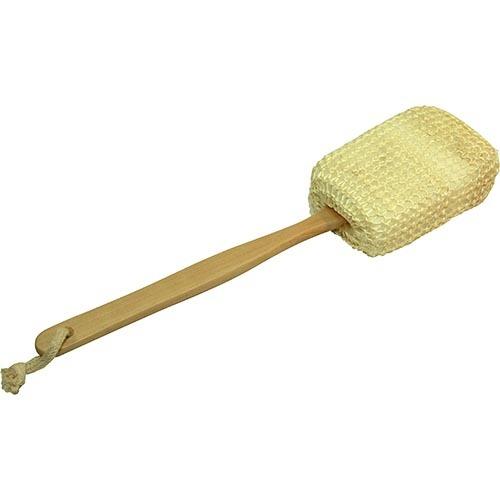 Мочалка из сизаля на деревянной ручке