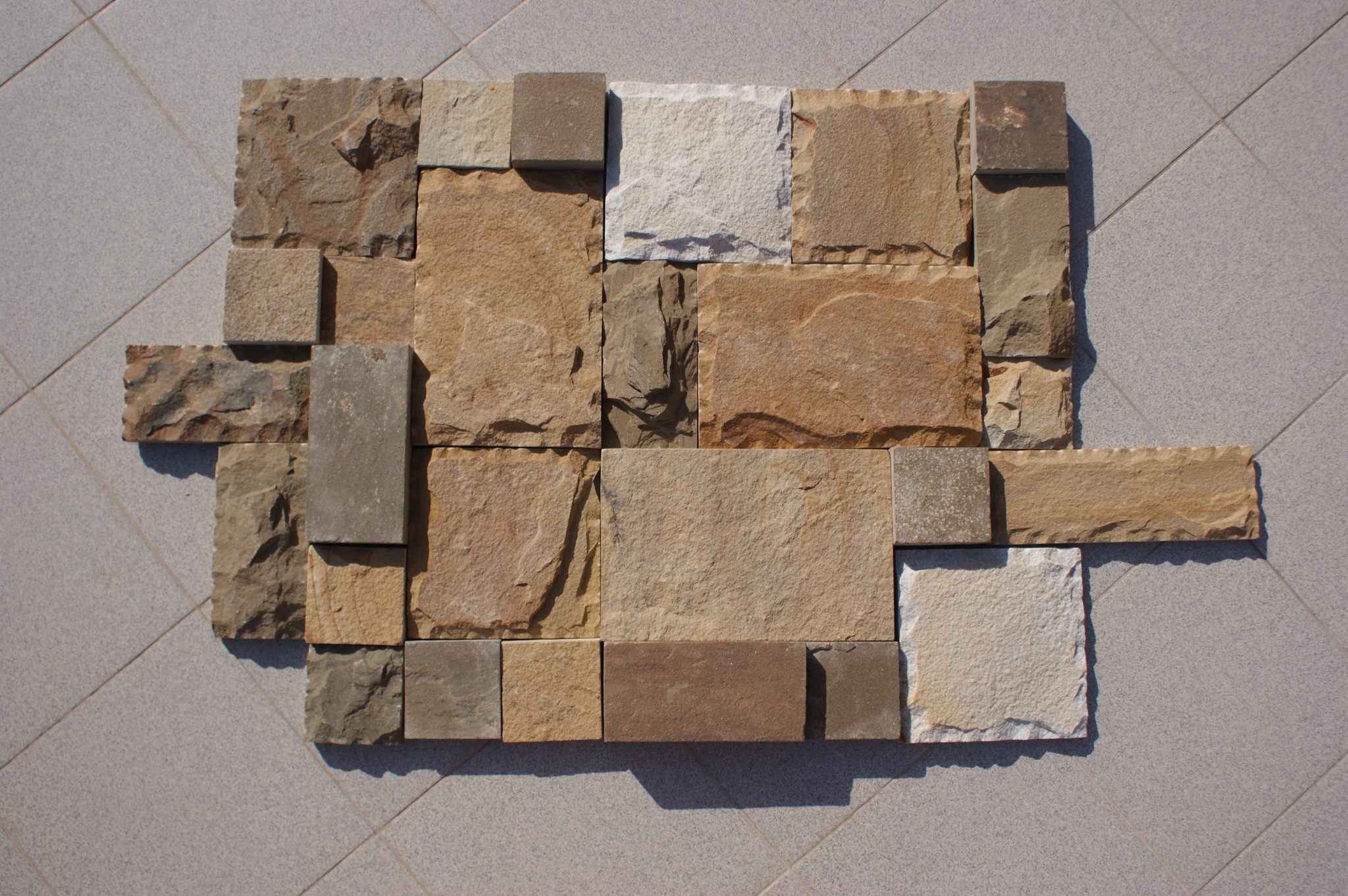 плитка песчаник пиленный рустованный Набор BackYard для облицовки