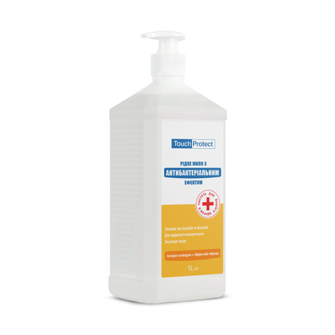 Рідке мило з антибактеріальним ефектом Календула-Чебрець Touch Protect 1 L (1)