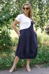Агат. Оригінальна сукня великих розмірів. Синій.