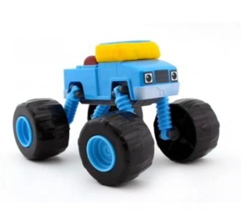 Синий пикап Вспыш 9 см. Машинка-трансформер
