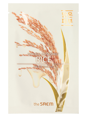 СМ Маска на тканевой основе для лица с экстрактом риса (NEW)Natural Rice Mask Sheet 21мл