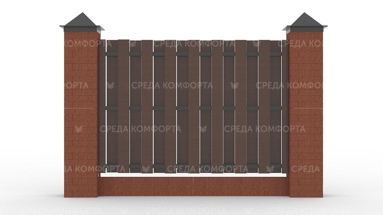 Деревянный забор ZBR0009