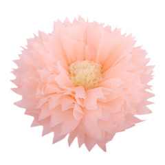 Бумажный цветок 40/15 см персиковый+бежевый