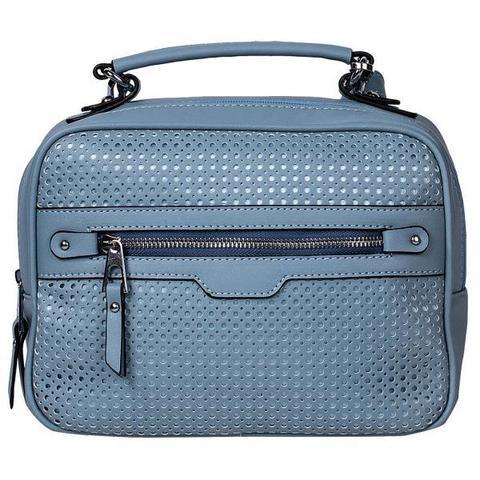 Голубая сумка с декоративным тиснением