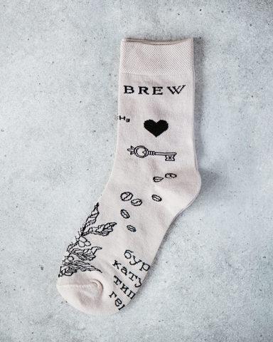 Носки «Кофейные тату»
