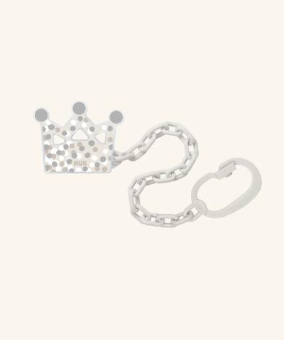 Прищепка-держатель для соски-пустышки корона NUK