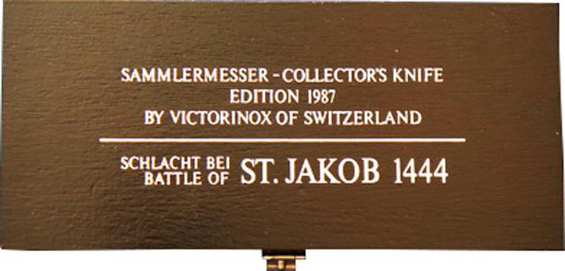 Коллекционный складной нож Victorinox St. Jakob (1.1987.1) - Wenger-Victorinox.Ru