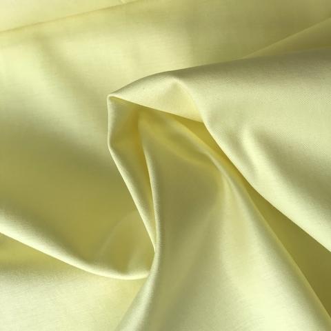 Ткань хлопок сатин светло-желтый 2102