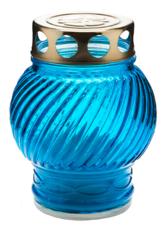 Лампада голубая, стеклянная