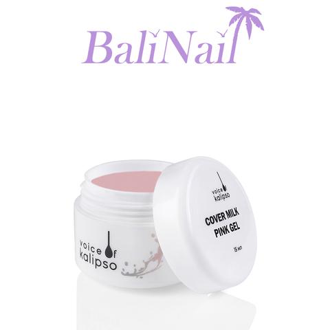 Cover Milk Pink Gel - Гель для наращивания ногтей молочный розовый, 15 мл