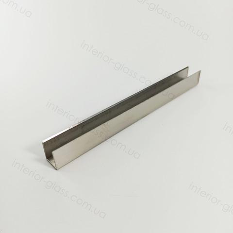 Профиль (швеллер) нержавеющий 15x13x15 мм, L=3 м ST-502-10 SSS матовый