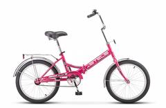 Складной велосипед Stels Pilot-410 малиновый