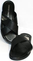 Сандалии мужские черные Giorgio Armani 101 01Black.
