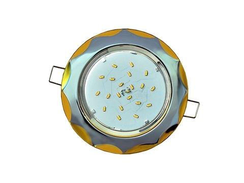 Ecola Светильник GX53 H4 Звезда хром/золото