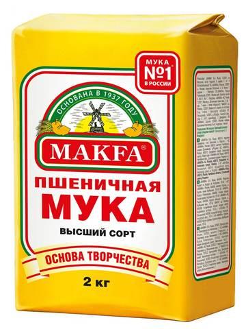 """Мука """"Макфа"""" высший сорт 2кг"""