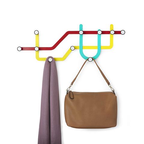 Вешалка Subway разноцветная