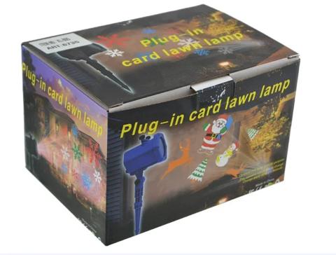 Лазерный проектор Диско LASER Shower Light XL-805 уличный новогодний с 5 кассетами Черный