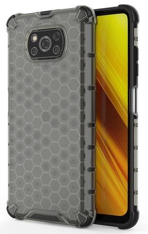 Двухкомпонентный чехол в тонированном корпусе для смартфона Xiaomi Poco X3 NFC от Caseport, серия Honey