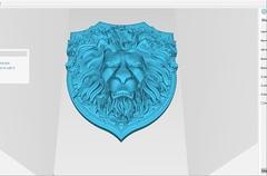 Силиконовый молд № 453 Щит лев