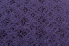 Ткань натуральная, с жаккардовым переплетением, рисунок : темно-синий ромб