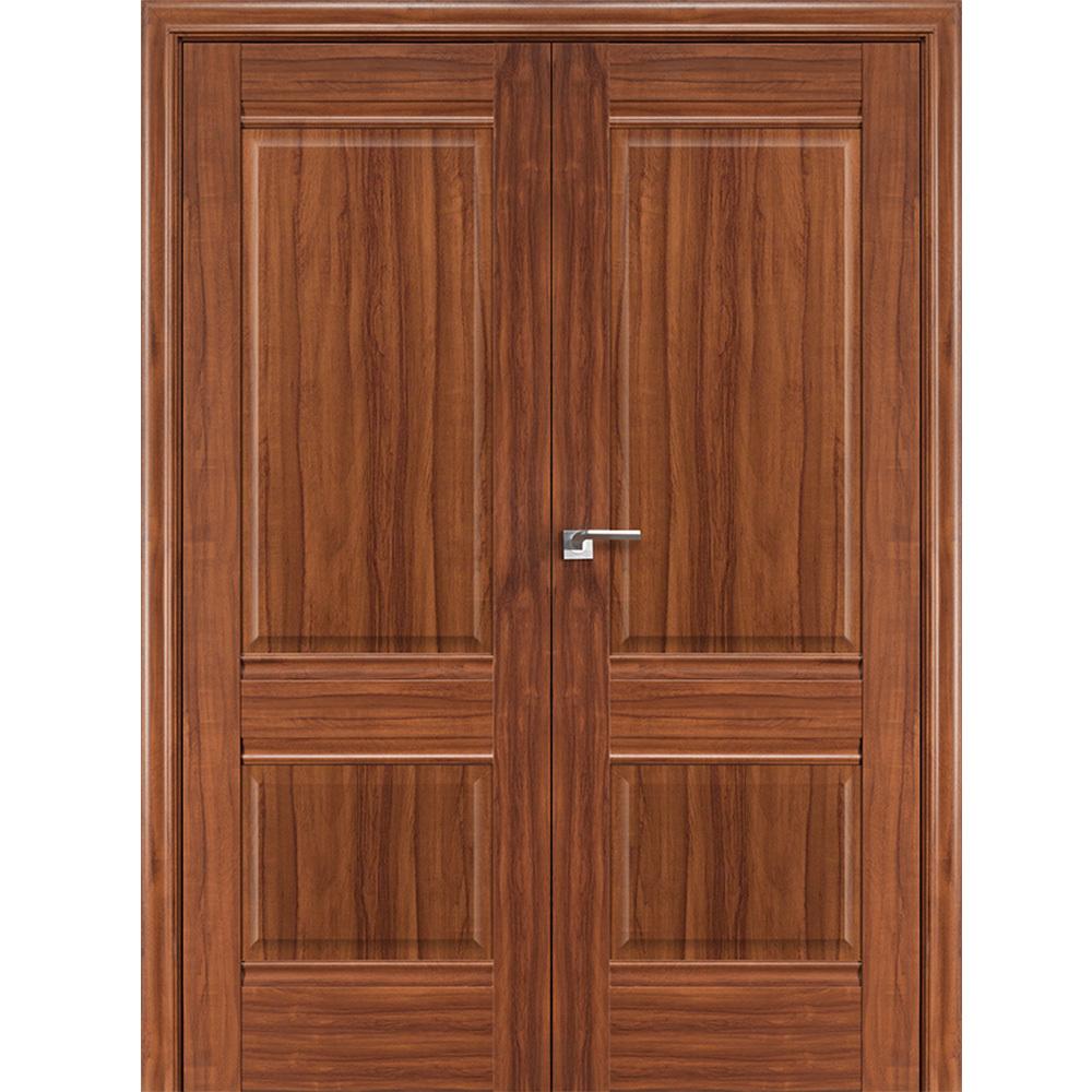 Решения Межкомнатная дверь экошпон Profil Doors 1X орех амари распашная двустворчатая глухая 1x-oreh-amari-por-dvertsov.jpg