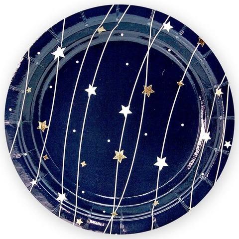 Тарелки (9''/23 см) Звездная траектория, Черный, 6 шт.