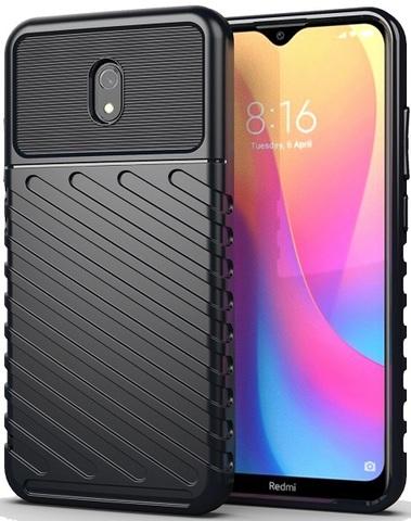 Чехол для Xiaomi Redmi 8A цвет Black (черный), серия Onyx от Caseport