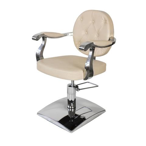 Парикмахерское кресло Орландо гидравлика хром, квадрат хром