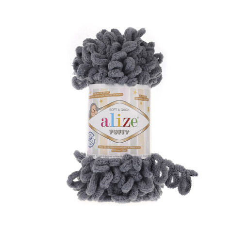 Пряжа Alize Puffy 87 серый