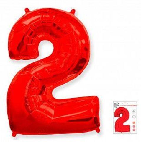Цифра два- красная
