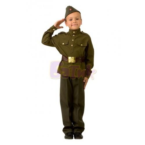 Военная форма Солдат детский  (текстиль)