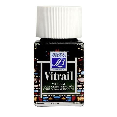 Краска по стеклу Lefranc&Bourgeois VETRAIL 50 мл 541, оливковый