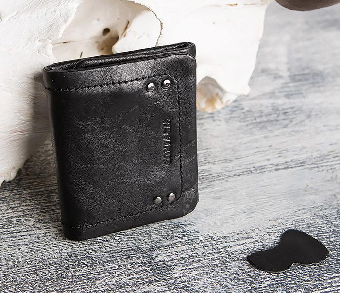 WL286-1 Мужской кожаный кошелек с монетницей фото 06