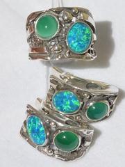 Элиас (кольцо + серьги из серебра)