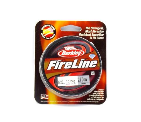Плетеная леска Berkley Fireline Темно-серая 270 м. 0,20 мм. 13,2 кг. Smoke (1308619)