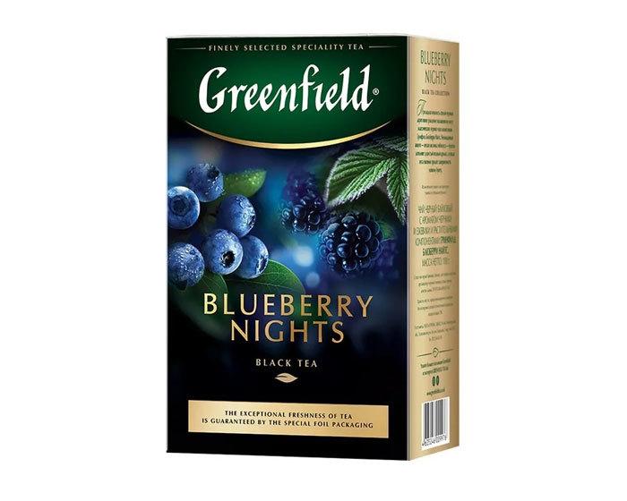 купить Чай черный листовой Greenfield Blueberry Nights, 100 г