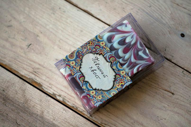 Этиклейка на упаковку для мыла Пэйсли