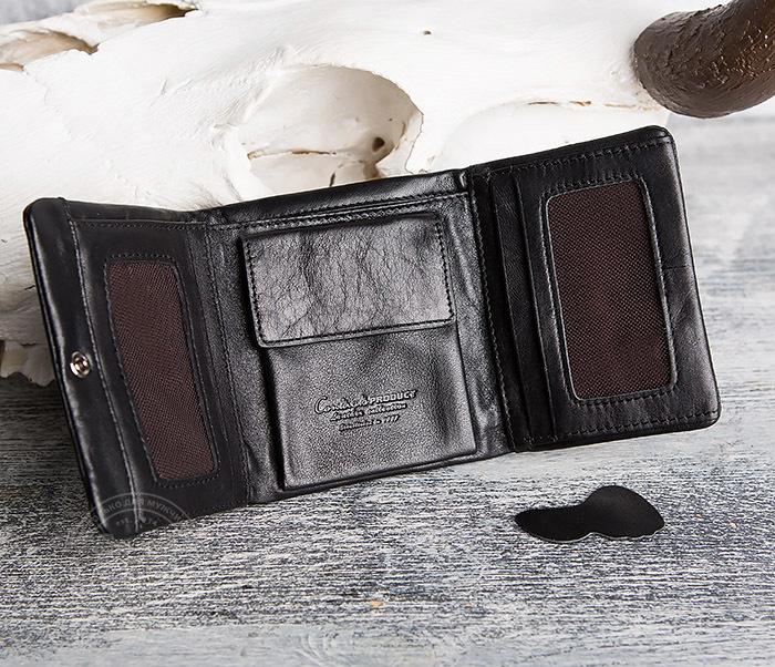 WL286-1 Мужской кожаный кошелек с монетницей фото 07
